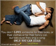You don't love someone Love Quotes Cards for Her