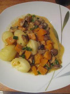 Be Veggie - going vegan: Kürbis-Pilzpfanne mit Kartoffeln