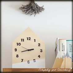 Minimalistické hodiny DIY