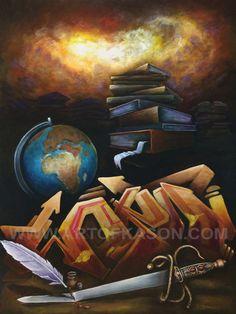 Word Painting by Ka-Son Reeves Black Art, Sons, Artsy, Wall Art, Canvas, Acrylics, Artwork, Painting, Photos