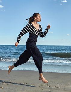 Sonya Gorelova Poses in Vacation Ready Looks for ELLE Kazakhstan