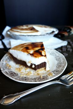 vegan s'mores pie |