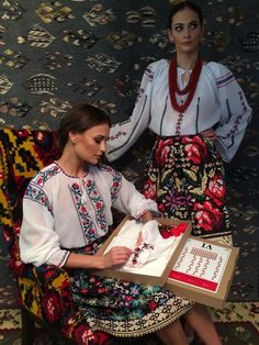Romanian folkwear Folk Fashion, Ethnic Fashion, Folk Costume, Costumes, Romanian Flag, Romanian People, She's A Lady, Embroidery Fashion, Traditional Outfits