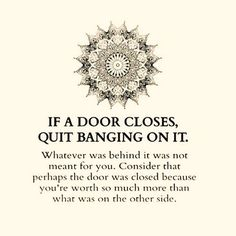 One solution to a closed door...