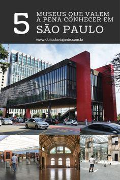 São Paulo tem muitas opções de museus. Visitar os museus da cidade é uma ótimas opção pra quem gosta de cultura, arte e história. Alguns inclusive gratuitos.