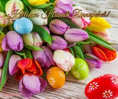 kellemes húsvéti ünnepeket képek – Google Kereső Vintage Cards, Easter Eggs, Google, Food, Essen, Meals, Yemek, Vintage Maps, Eten