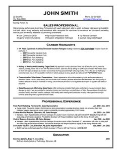 about Best Sales Resume Templates & Samples on Pinterest | Resume ...