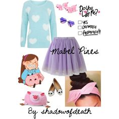 Mabel Pines outfit casual cosplay Gravity Falls
