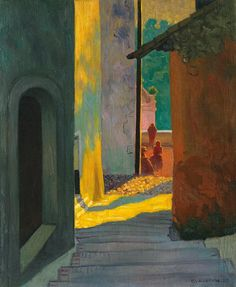 Old Street In Cagnes. Sunset, 1920 by Félix Vallotton (Swiss/French 1865–1925)