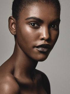 Amilna Estevao photographed by Craig McDean, wears a dewy beauty look