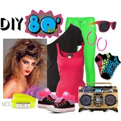 Part of my halloween costume 80 s halloween costumes and costumes 80s costume by mclaires on polyvore solutioingenieria Image collections