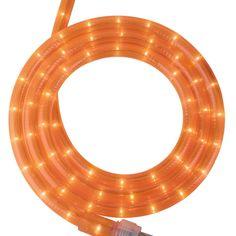 18ft rope lights orange deep amber led rope light kit 10led 120 volt fluorescent orange rope light with 12 bulbs per foot 2 wire round rope light with orange lights aloadofball Choice Image