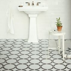 💙 this tile - Hula Hoop Black - Tulia by Neisha Crosland - Wall & Floor Tiles Black Wall Tiles, Black And White Tiles, Wall And Floor Tiles, Loft Bathroom, Family Bathroom, Bathroom Ideas, Bathroom Plans, Bathroom Stuff, Bathroom Inspo