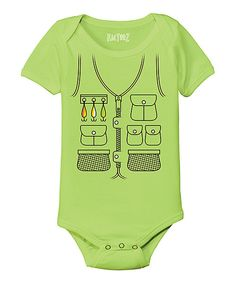 Look at this Key Lime Fishing Vest Bodysuit - Infant on #zulily today!