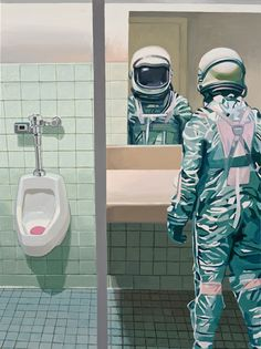 Men's Room Canvas Print by Scott Listfield. All canvas prints are professionally printed, assembled, and shipped within 3 - 4 business days and delivered ready-to-hang on your wall. Choose from multiple print sizes, border colors, and canvas materials. Art Mural, Wall Art, Artist Art, Wall Decor, Brainstorm, Framed Art Prints, Canvas Prints, Graphics, Backgrounds