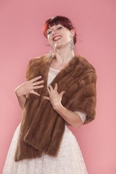 1950s genuine mink stole.  What every man aspired to give his wife!