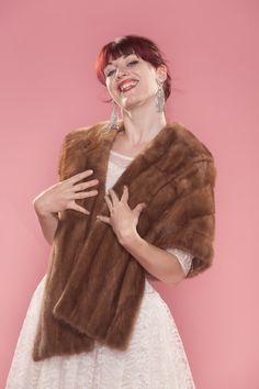 1950s genuine mink stole #vintage #fur #stole #1950s $155
