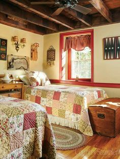country primitive home tour Primitive Bedroom, Country Primitive, Country Farmhouse, Country Living, Country Style, Country Sampler Magazine, Guest Bedrooms, Country Bedrooms, Farmhouse Bedrooms