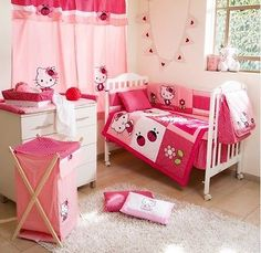 #Brand new #hello kitty 4 #piece bedding cot set , View more on the LINK: http://www.zeppy.io/product/gb/2/371608928319/
