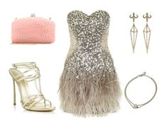 The great gatsby party outfit idea with feathers, sequins and jewelry #outfit #greatgatsby #party