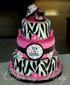 Baby shower cake idea for baby girl Winchester!