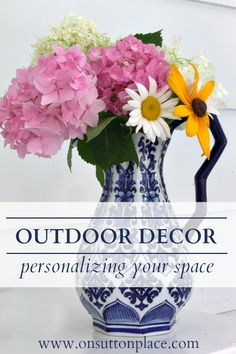 Outdoor decor  ~ clever  ideas for personalizing your space and bringing the indoors out!