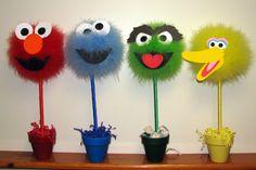 Sesame Street topiaries.