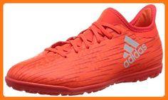 best service 73d7a fc8a4 adidas X 16.3 Turf Junior Soccer Boots, Red, J12.5 (Partner