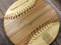 Baseball Gift Personalized Baseball Cutting Board by withluvdesign, $39.95