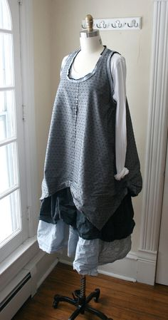 Cotton 4Point  Lagenlook Tunic by Breathe1960 on Etsy, $85.00