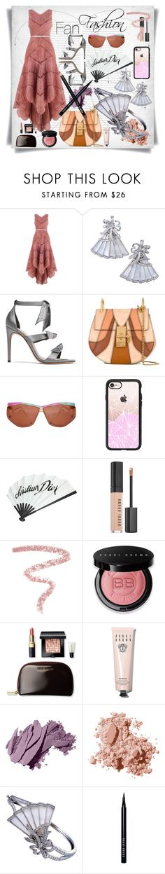"""Fan Style."" by imbeauty ❤ liked on Polyvore featuring Oris, Zimmermann, Ivanka Trump, Alexandre Birman, Chloé, Casetify, John Galliano, Bobbi Brown Cosmetics and Fan"