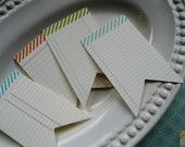 pennant journaling cards