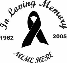 In Loving Memory cut vinyl decal. Available in a variety of colors and sizes.