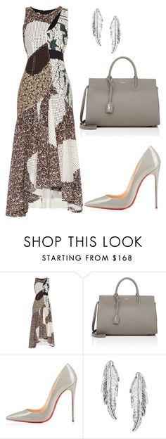 """""""style theory by Helia"""" by heliaamado on Polyvore featuring moda, Cédric Charlier, Yves Saint Laurent e LeiVanKash"""
