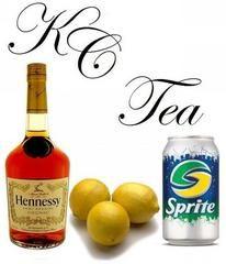 KC Tea: Henny, Sprite, Lemon. Developed by Tech N9ne.