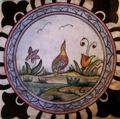 Hand Painted Ceramic Majolica Tile by Maiolica on Etsy, $43.00