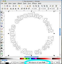 Circular text in WordArt in MS Word...cool
