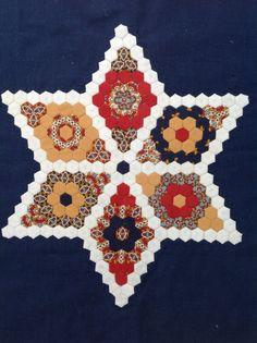Miniature hexagon piecing