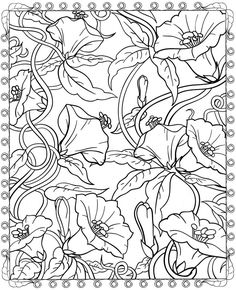 Welcome to Dover Publications Creative Haven Floral Designs Coloring Book