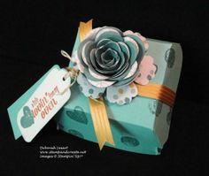 Stampin' Up Hamburger Box die - Spiral Flower Die - Deb Smart