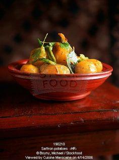 أشهر وصفات الطبخ المغربي بالصور : مطبخ ام ايمن Saffron potatoes
