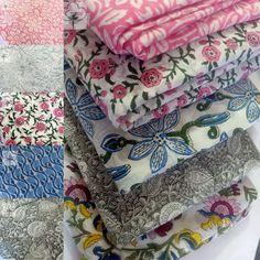 Girls Dress Fabric India Hand Block Print Cotton Fabric, Crafts Fabric, Soft Dressmaking Fabric by the Yard CFC109-5 Hand Printed Fabric, Floral Print Fabric, Printed Cotton, Printing On Fabric, Shibori Fabric, Dressmaking Fabric, Indian Fabric, Fabric Strips, Fabric Crafts