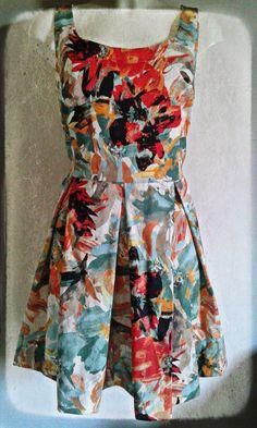Spring Dress Vintage Pleated ...