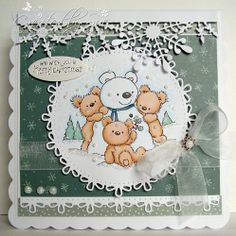 Let it Snow at Crafty Little Fairies Challenge - Creations by Bearhouse