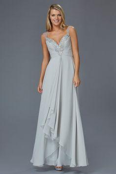 Simple Asymmetrical Chiffon Dresses Champagne