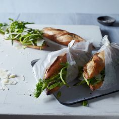 Asparagus and Aged Goat Cheese Sandwiches | Courtesy of Food&Wine
