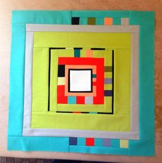"Center block of Sew Crazy for Quilts: City Center, 60 x 60"" finished (see pic next to this one for full sized quilt)"