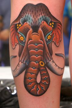 dane mancini inkamatic mammoth tattoo traditional trieste by elisa.jolie, via Flickr