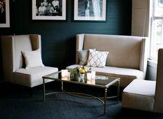 Rebecca Reategui Weddings and Special Events // Presidio Social Club // lounge // beaded pillows // Hartmann Studios Princeton furniture // Josh Gruetzmacher Photography