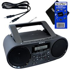 Sony Portable Mega Bass Stereo Sound System Boombox with